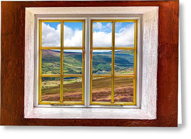 Looking Out Side Greeting Cards - Valley View Greeting Card by Semmick Photo