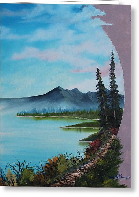 Bob Ross Paintings Greeting Cards - Valley Vignette Greeting Card by Bob Williams