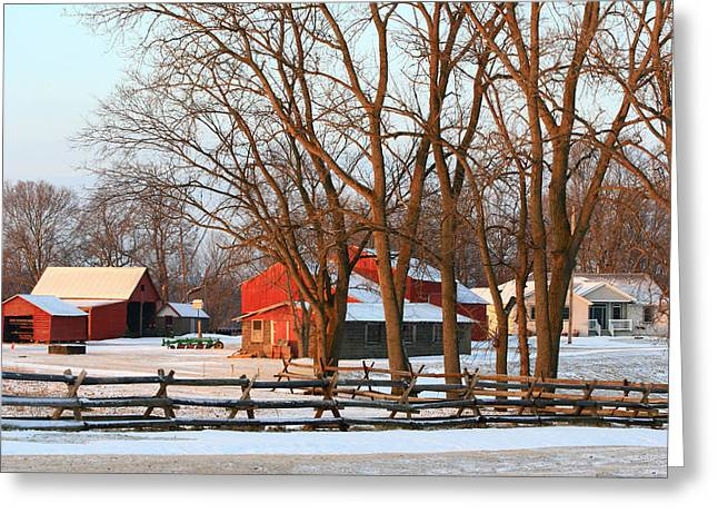 Canon 40d Greeting Cards - Valleyview Farm Greeting Card by Rick Buzalewski