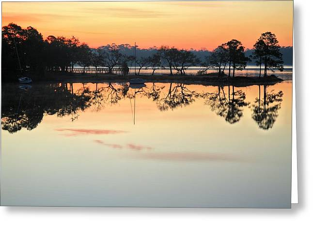 Florida Panhandle Greeting Cards - Valparaiso Morning Greeting Card by JC Findley