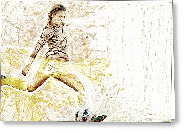 Valparaiso Soccer Sydney Rumple Painted Digitally Etc Greeting Card by David Haskett