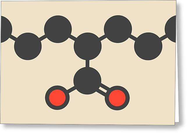 Valproic Acid Epilepsy Drug Molecule Greeting Card by Molekuul