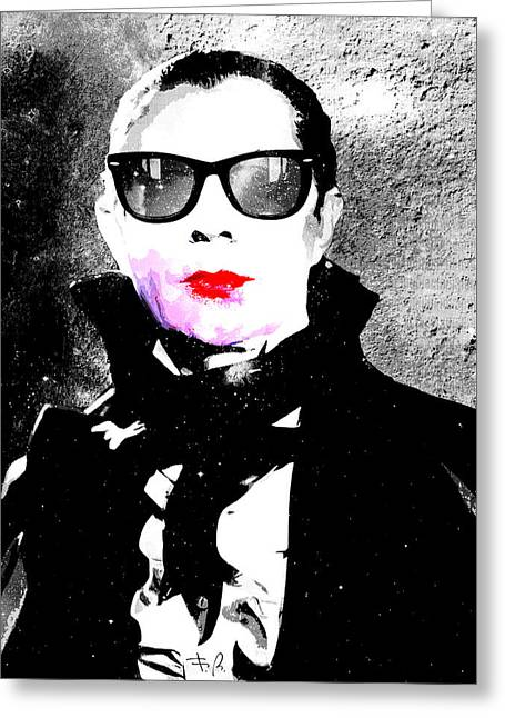 80s Pop Music Greeting Cards - Vamp Glam Greeting Card by Filippo B