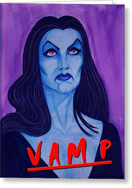 Anne Rice Greeting Cards - Vampire Greeting Card by  Joya