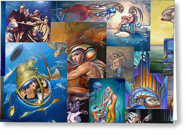Planet Paintings Greeting Cards - Van Geaudeux Mural 1 Greeting Card by Patrick Anthony Pierson