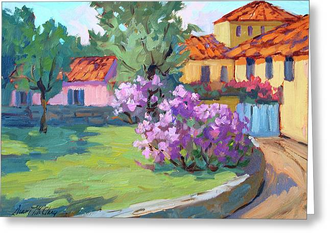 Building. Home Greeting Cards - Van Gogh Hospital St. Remy Greeting Card by Diane McClary