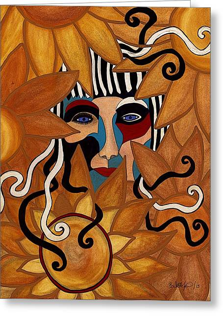 Princess Pastels Greeting Cards - Van Gogh meets Picasso Greeting Card by Barbara St Jean