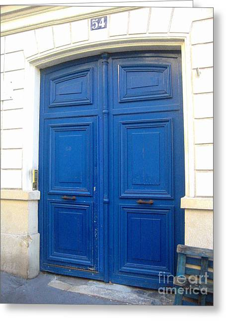 Art By Frederick Luff Greeting Cards - Van Goghs Blue Door Greeting Card by Europe  Travel Gallery
