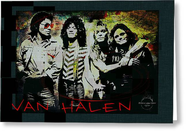 Van Halen - Ain't Talkin' 'bout Love Greeting Card by Absinthe Art By Michelle LeAnn Scott