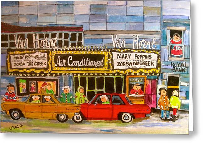 1963 Ford Greeting Cards - Van Horne Theatre 1964 Greeting Card by Michael Litvack