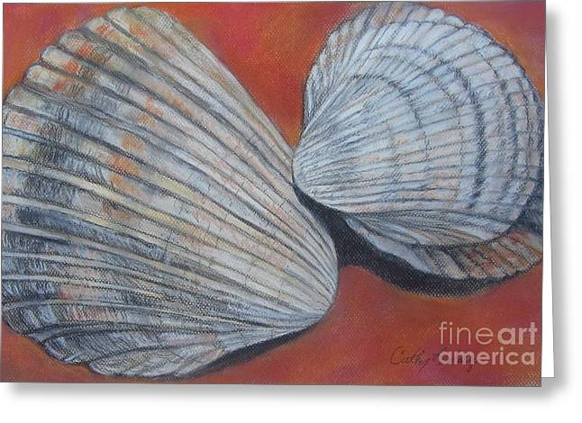 Sand Pastels Greeting Cards - Van Hynings Cockle Shells Greeting Card by Cathy Lindsey