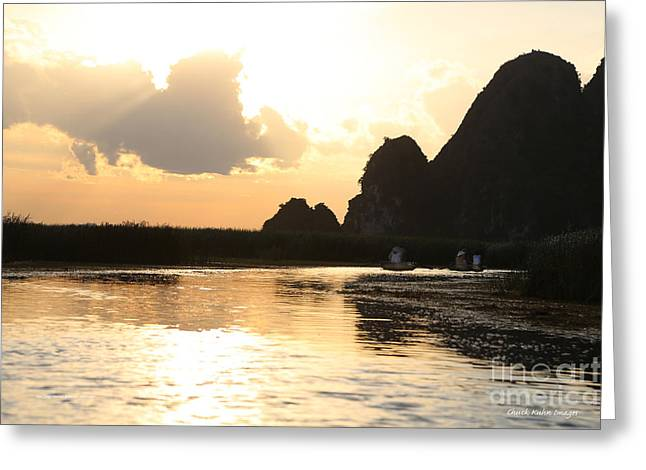 Binh Greeting Cards - Van Long Reserve VI Greeting Card by Chuck Kuhn
