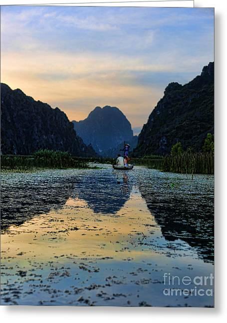 Binh Greeting Cards - Van Long v Greeting Card by Chuck Kuhn