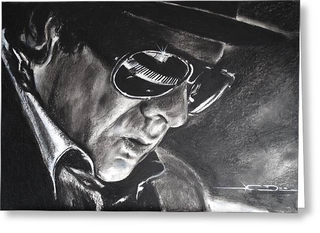 Belfast Greeting Cards - Van Morrison -  Belfast Cowboy Greeting Card by Eric Dee