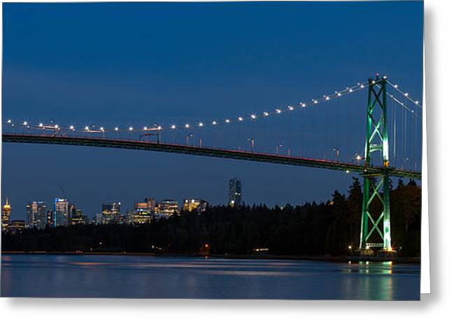 Sea Lions Greeting Cards - Vancouver and the Lions Gate Greeting Card by Michael Russell