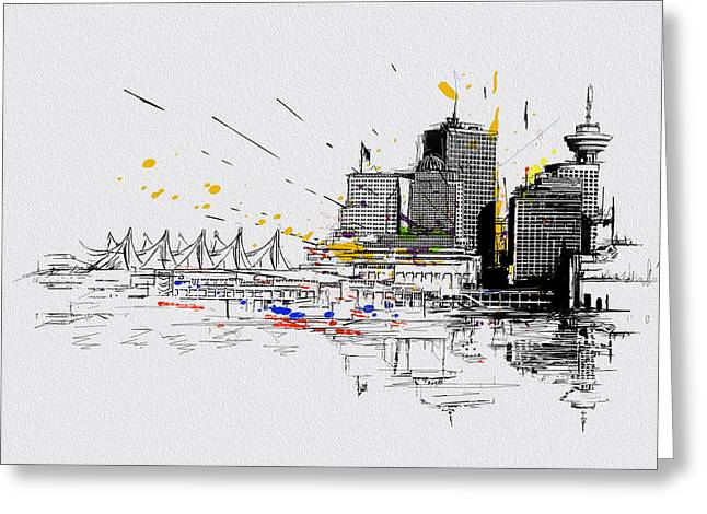 British Columbia Greeting Cards - Vancouver Art 004 Greeting Card by Catf