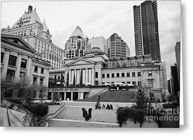 North Vancouver Greeting Cards - Vancouver Art Gallery in the former main courthouse BC Canada Greeting Card by Joe Fox