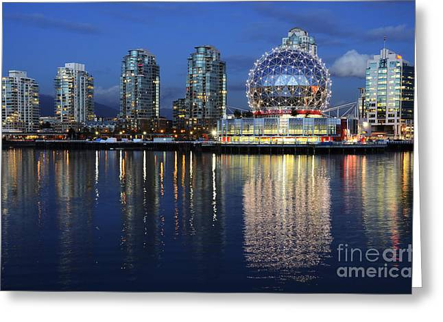 Telus Greeting Cards - Vancouver British Columbia 3 Greeting Card by Bob Christopher