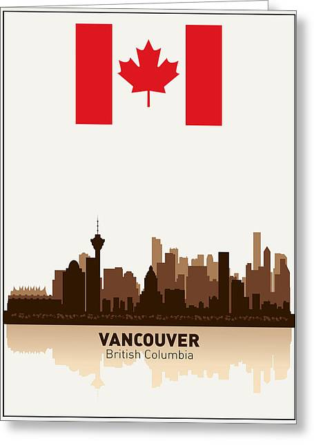 North Vancouver Digital Greeting Cards - Vancouver British Columbia Canada Greeting Card by Daniel Hagerman