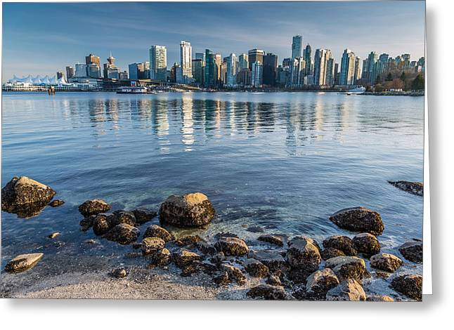 Canon 6d Greeting Cards - Vancouver city from Stanley Park Greeting Card by Pierre Leclerc Photography