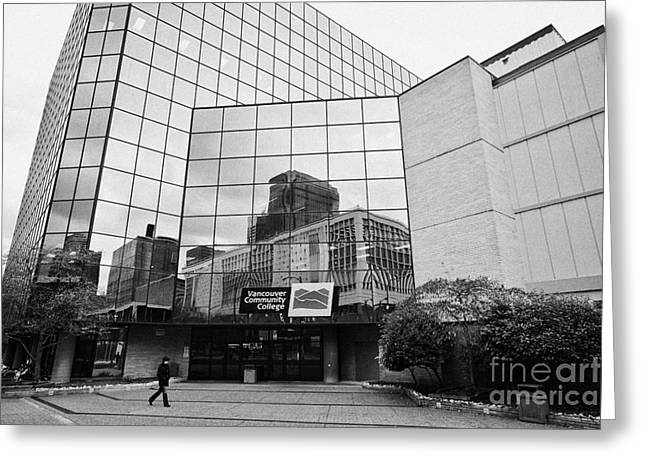 North Vancouver Greeting Cards - Vancouver community college BC Canada Greeting Card by Joe Fox