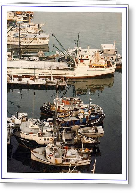 Framed Photos Greeting Cards - Vancouver Fishing vessels Greeting Card by Jack Pumphrey