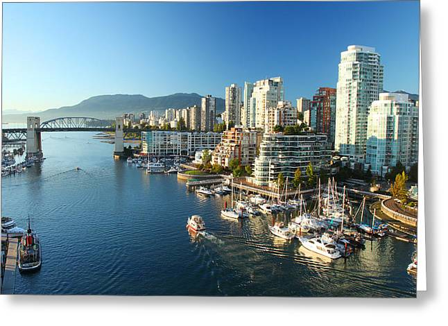 Vancouver Harbour Greeting Card by Dan Breckwoldt
