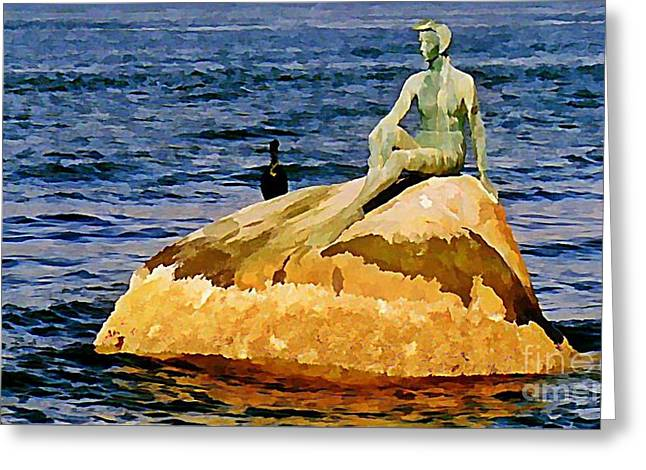 Johnmaloneartist.com Greeting Cards - Vancouver harbour near Stanley Park Greeting Card by John Malone