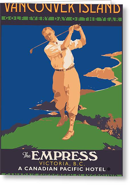 Golf Design Greeting Cards - Vancouver Island Greeting Card by Gary Grayson