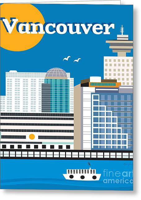 North Vancouver Digital Greeting Cards - Vancouver Greeting Card by Karen Young