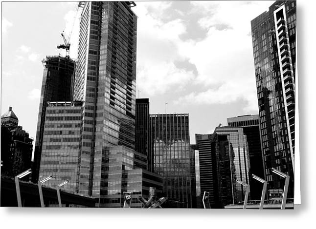 Corporate Art Greeting Cards - Vancouver Olympic Cauldron- black and white photography Greeting Card by Linda Woods