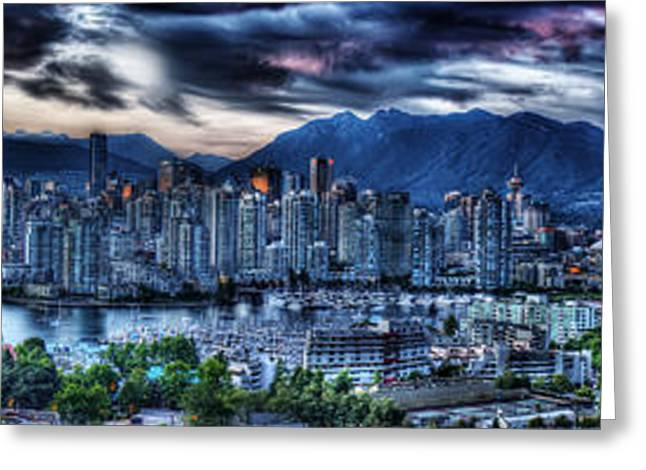 Vancouver Panorama Greeting Card by Colin Woods