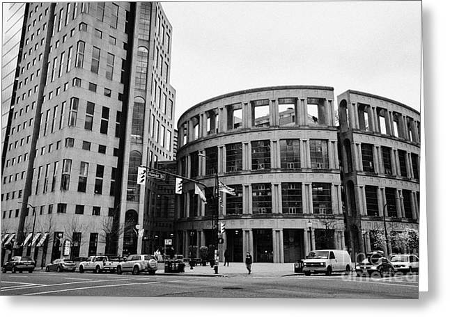 North Vancouver Greeting Cards - Vancouver public library BC Canada Greeting Card by Joe Fox