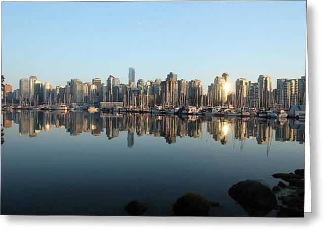 Vancouver Reflected Greeting Card by Dan Breckwoldt