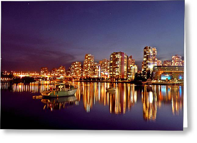 Ocean Art Photos Greeting Cards - Vancouver Reflecting Greeting Card by Brian Chase