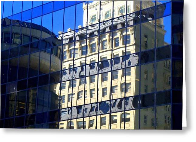 Vancouver Reflections 4 Greeting Card by Randall Weidner