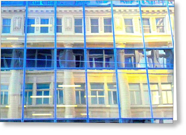 Curtain Wall Greeting Cards - Vancouver Reflections Greeting Card by Randall Weidner