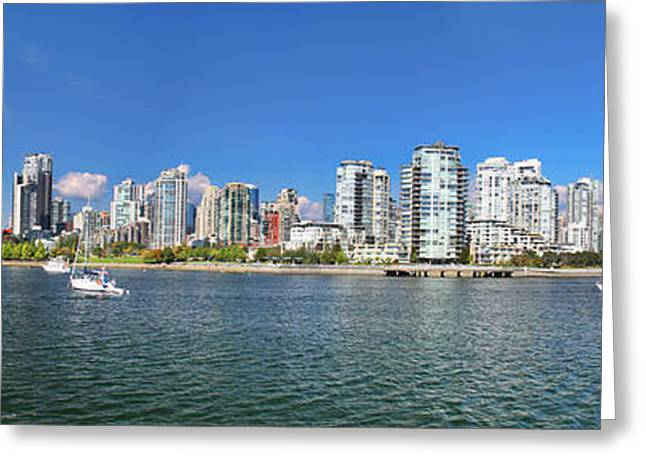 Vancouver Summer Greeting Card by Dan Breckwoldt