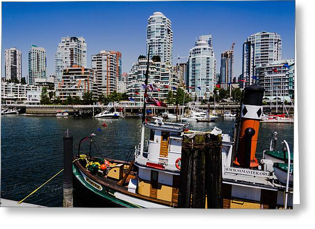 Kathy Bassett Greeting Cards - Vancouver Views Greeting Card by Kathy Bassett