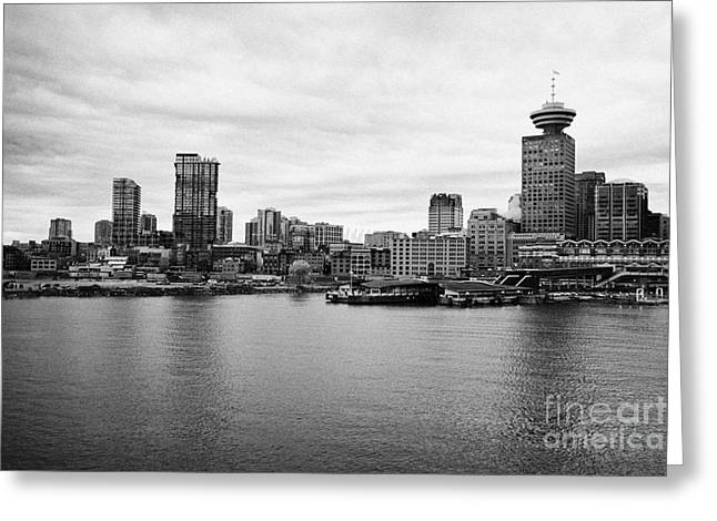 North Vancouver Greeting Cards - Vancouver waterfront skyline at gastown BC Canada Greeting Card by Joe Fox