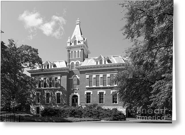 Architecture Of Nashville Greeting Cards - Vanderbilt University Benson Hall Greeting Card by University Icons