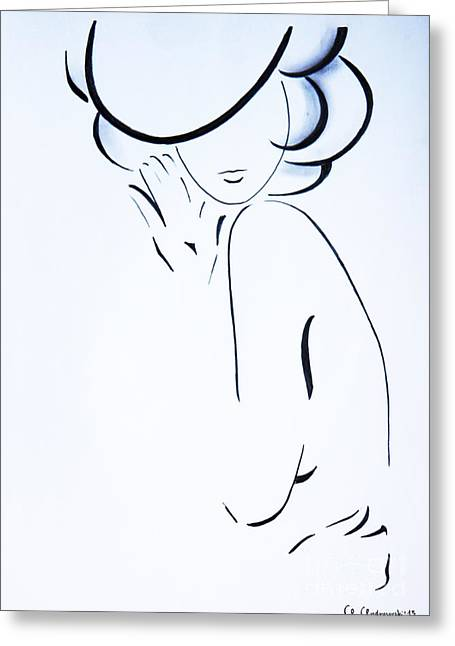 Sex Drawings Greeting Cards - Vanessa Greeting Card by Anna Androsovski