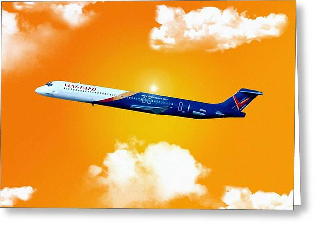 Vanguard Greeting Cards - Vanguard Airlines MD-80  Greeting Card by Mattucci Photography