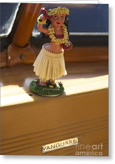 Vanguard Greeting Cards - Vanguard hula girl Greeting Card by Sean Stauffer