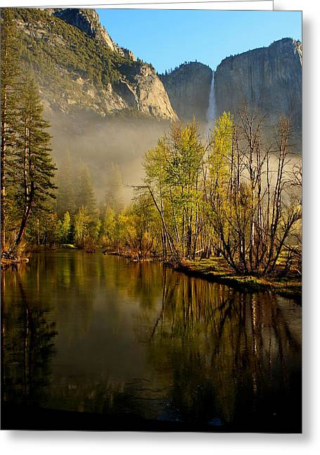 California Tourist Spots Greeting Cards - Vanishing Mist Greeting Card by Duncan Selby