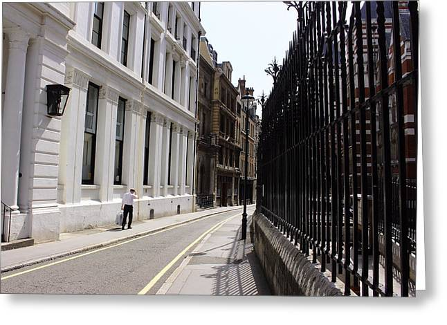 Hidden Corners Greeting Cards - Vanishing Point Greeting Card by Nicky Jameson