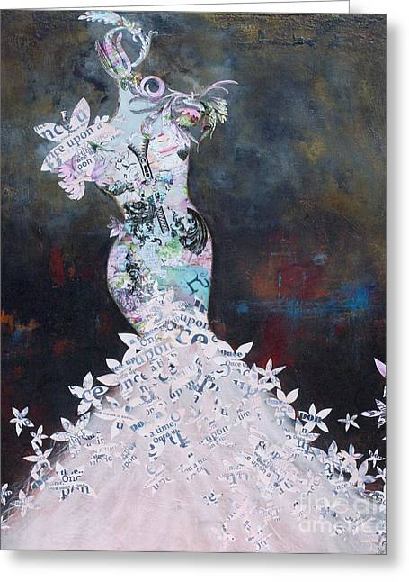 Female ist Mixed Media Greeting Cards - Vanity Fair Greeting Card by Anahi DeCanio