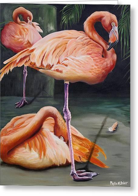 Wadingbird Greeting Cards - Vanity Greeting Card by Phyllis Beiser