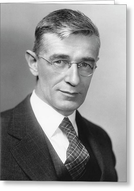 Vannevar Bush Greeting Card by Emilio Segre Visual Archives/american Institute Of Physics
