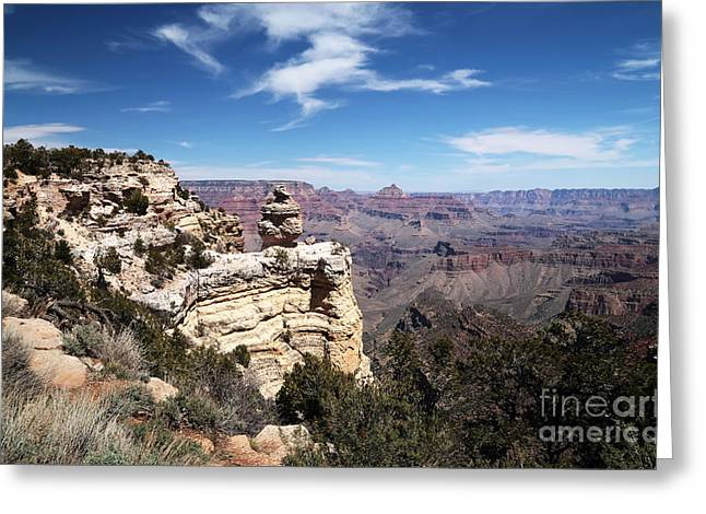 The Plateaus Greeting Cards - Vantage Point Greeting Card by John Rizzuto
